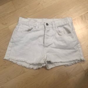 White High Waisted Shorts From Brandy Melville